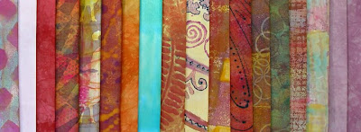 fabric hand dyed and painted by Robin Atkins