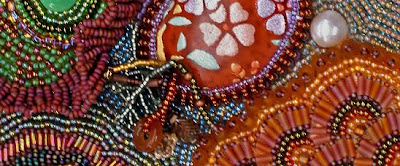 bead embroidery by Barbara Meger, detail