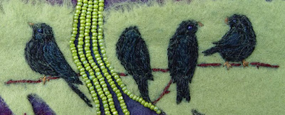 improvisational bead embroidery by Robin Atkins, Forgive, detail