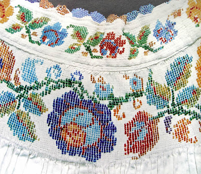 bead embellished pleating from central Mexico