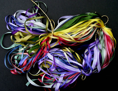 silk ribbons from Nancy's Sewing Basket, Seattle