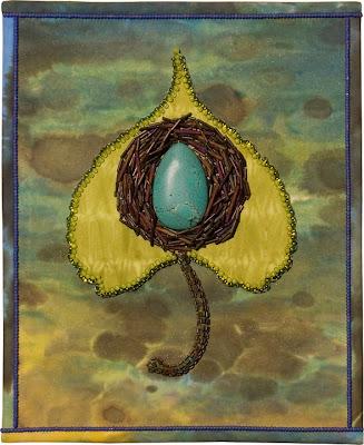 bead journal project, piece (title: Hope) by Lisa Binkley