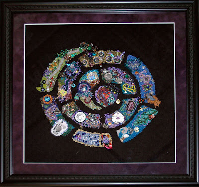 bead journal project, framed pieces by Karen L Cohen