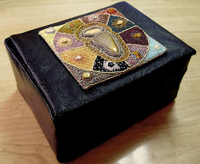 bead journal project, box for storing pieces by Morwyn D