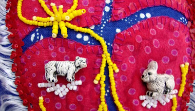 bead journal project, robin atkins, august, detail