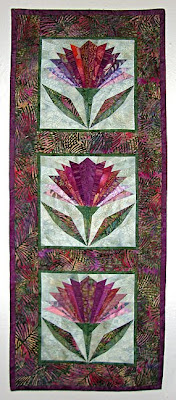 wall quilt by Pam Ehlers Stec, thistles