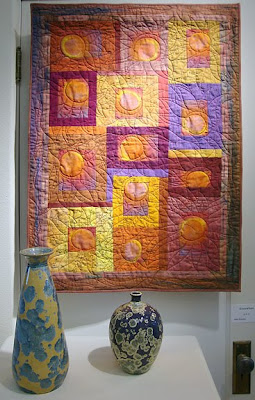 art quilt by Judie Hoyman, Somewhere