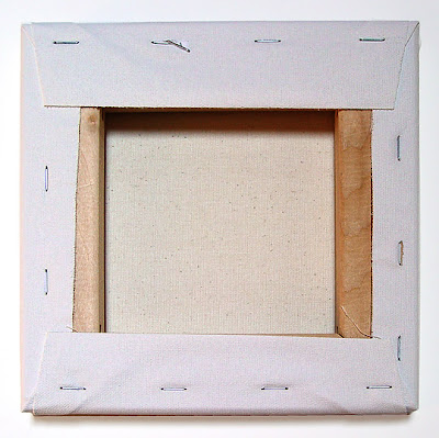 canvas on stretcher frame
