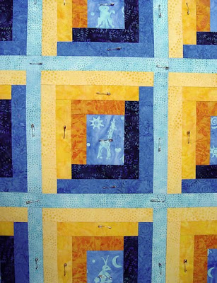 detail, baby quilt by Robin Atkin