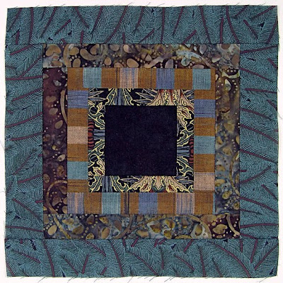 God's Eye Quilt, block 12, by Robin Atkins