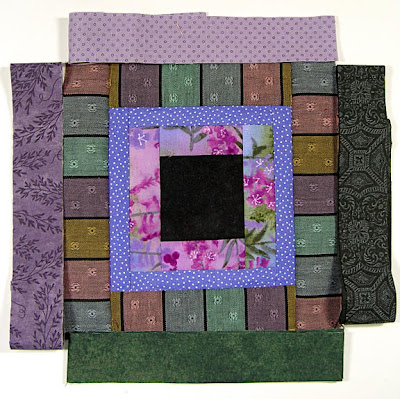 God's Eye quilt by Robin Atkins, auditioning fabrics 7