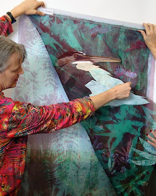 Karin Franzen, Egret, layers of organza under top (subject) layer