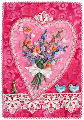 beaded valentine for little Robin