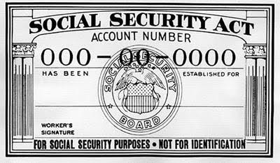 An old Social Security card with the