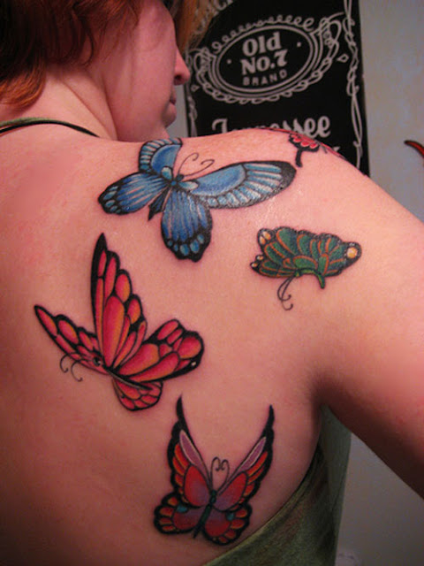 Butterfly Design Ideas-Butterfly Tattoo on Shoulder
