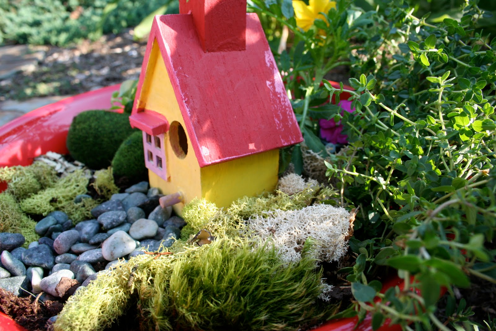 Pink And Green Mama End Of The Year Teacher Gift Fairy Garden In A Pot