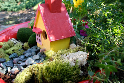 End of the year teacher gift fairy garden in a pot