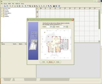Orientacja planu wnętrza - Sweet Home 3D
