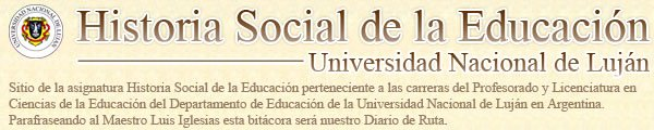 Historia Social de la Educación