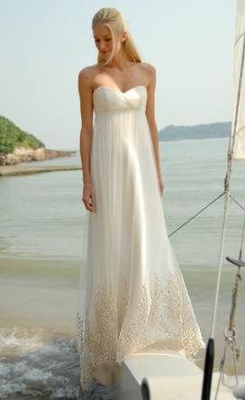 Hawaiian wedding dres it sheath beach wedding dress is simple and beautiful
