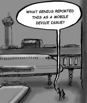 Mobile Device Issue Cartoon