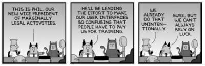 Dilbert - confusing user interfaces
