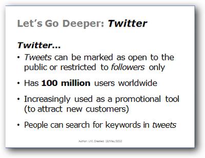 Twitter - lets go deeper
