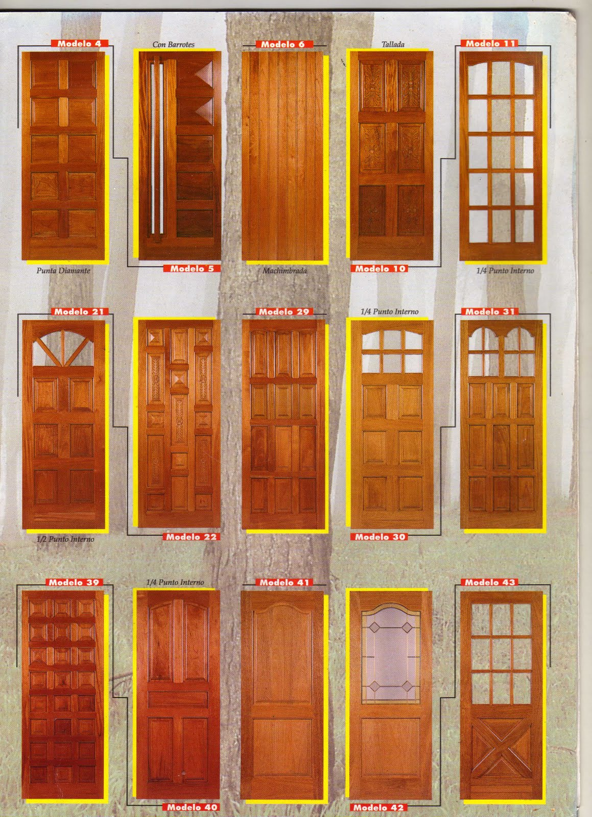 Carpinteria isidro modelos puertas ii for Modelos de barcitos hecho en madera