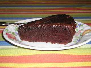 a piece of gluten-free chocolate cake
