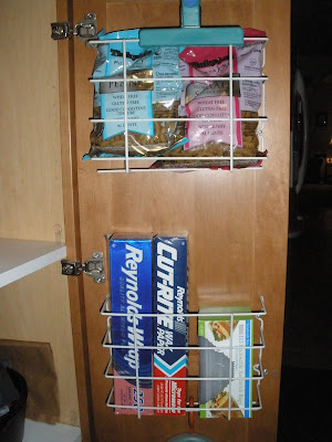 kitchen wrap storage rack