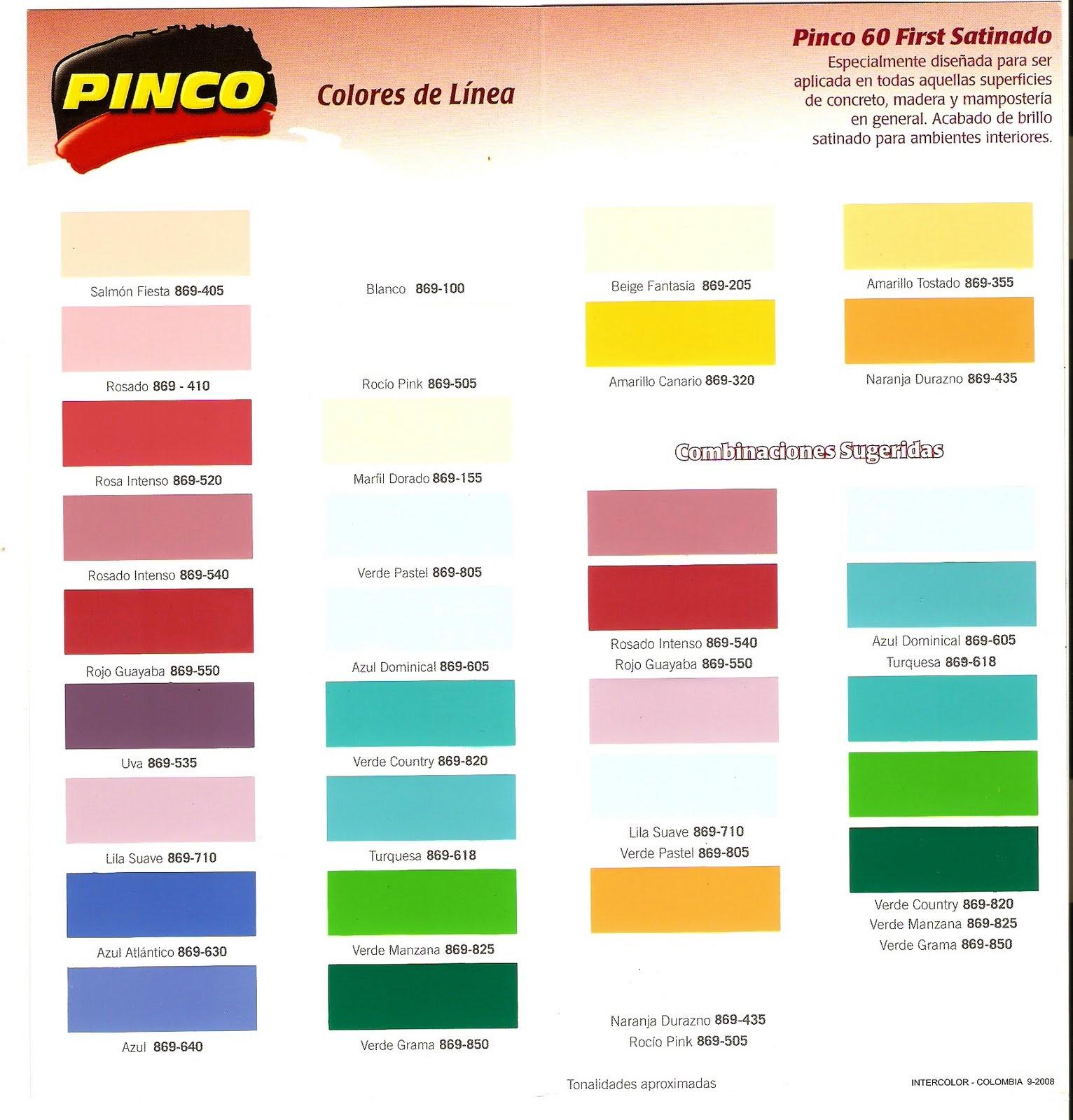 Pinturas con brillo de seda,carta de colores - Imagui