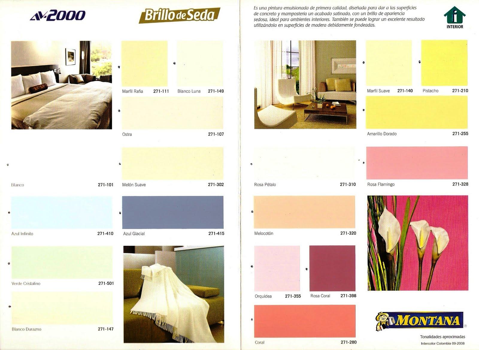 Pinturas brillo de seda carta de colores - Imagui