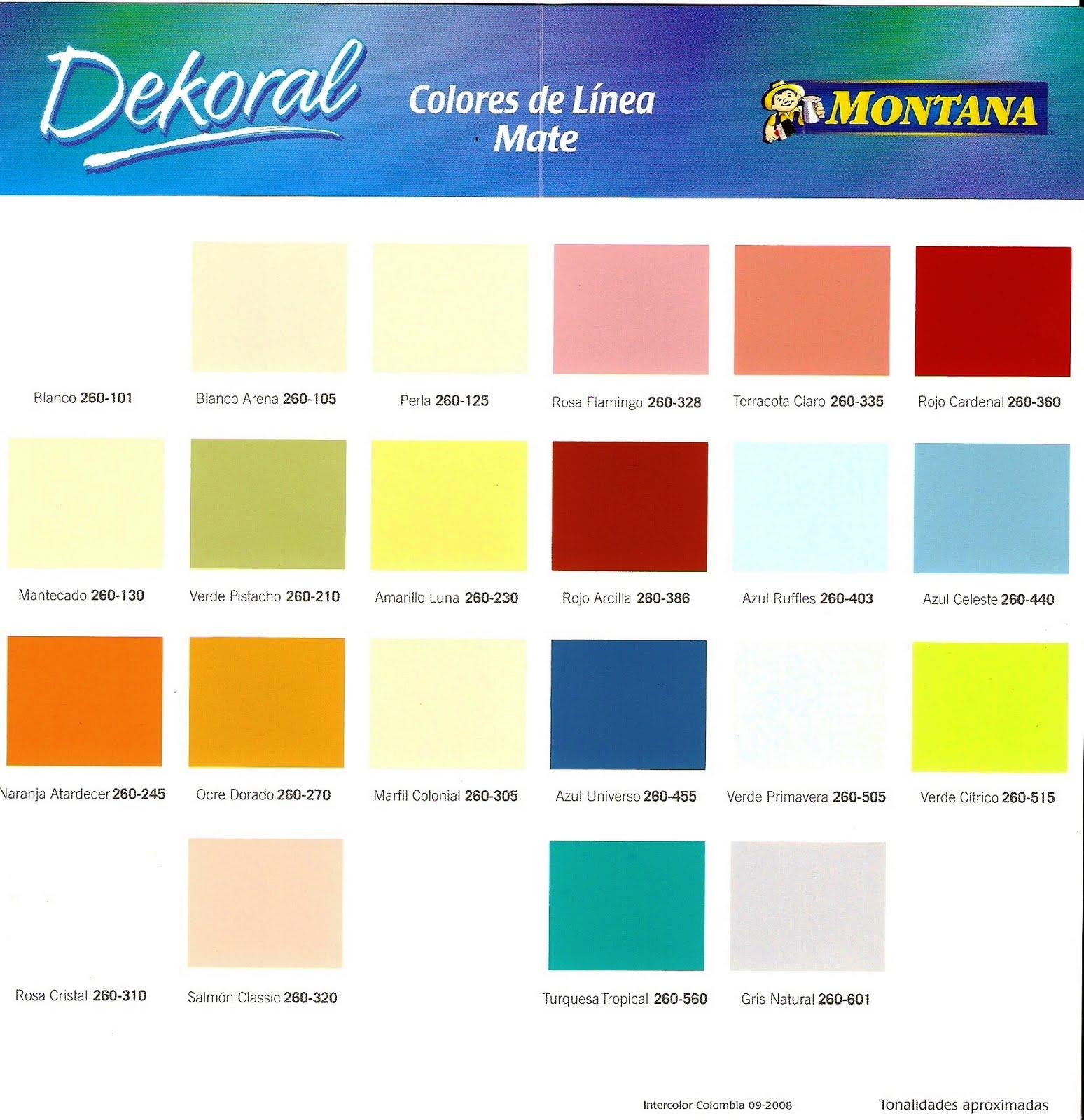 Inversiones fertorca c a pinturas av 2000 dekoral pinco - Ver colores de pinturas ...