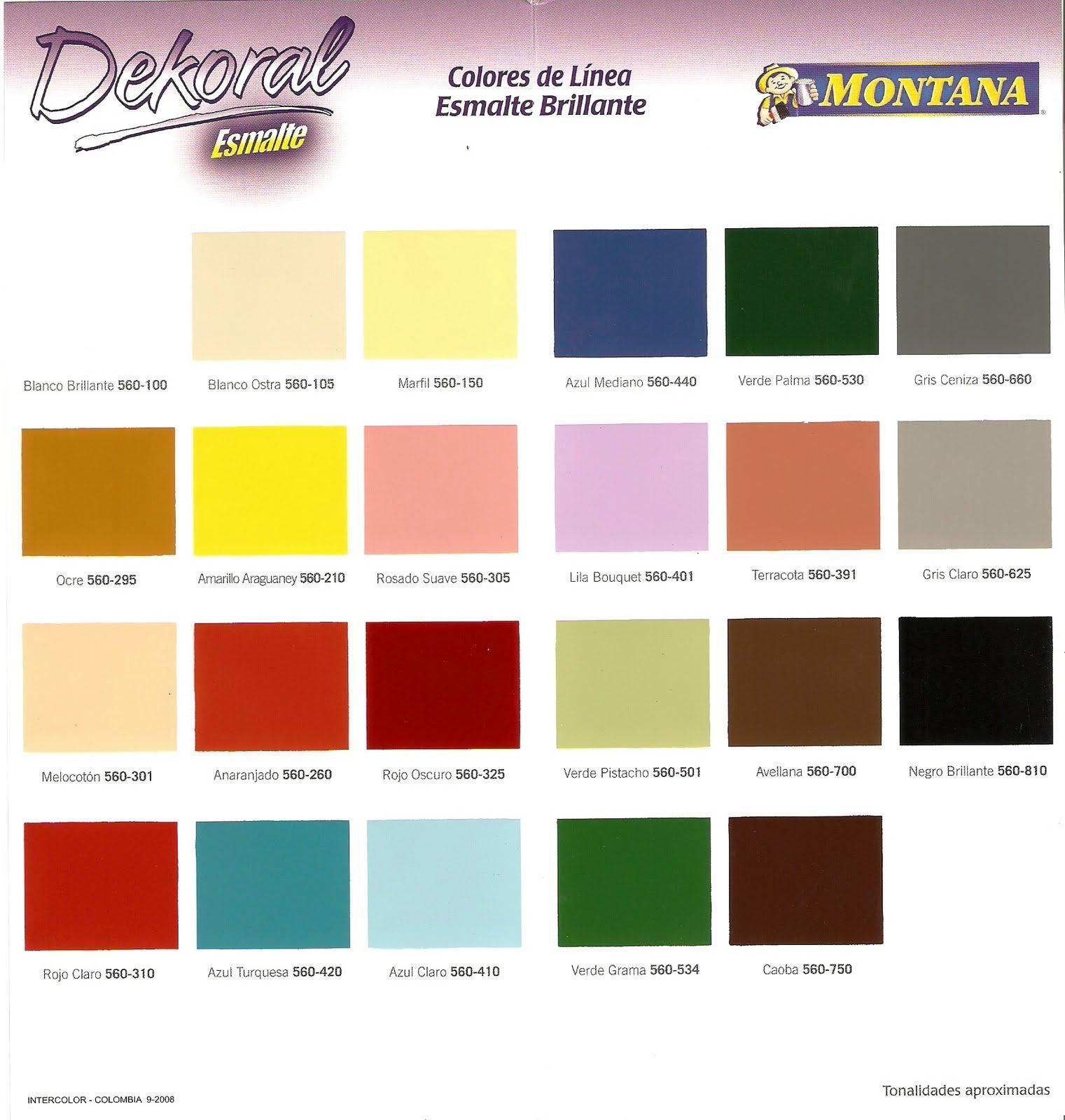Inversiones fertorca c a pinturas av 2000 dekoral pinco for Muestras de colores de pintura
