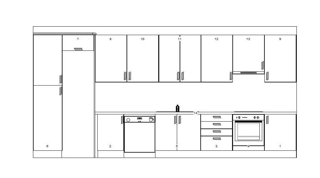 La distribuci n del mobiliario el primer for Planos de cocinas autocad