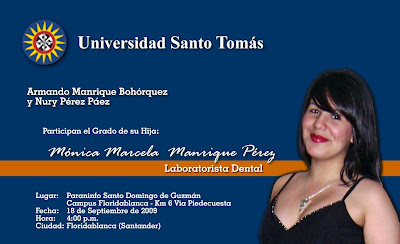 PARTICIPACION DE GRADO DE MONICA MANRIQUE PEREZ