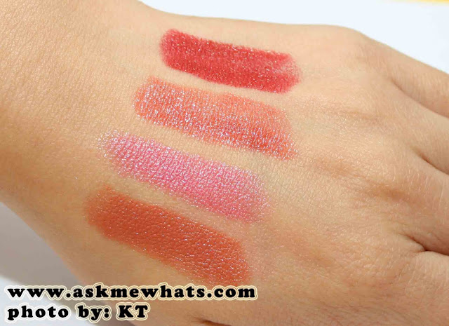 a photo of Maybelline ColorSensational Moisture Extreme Color swatches