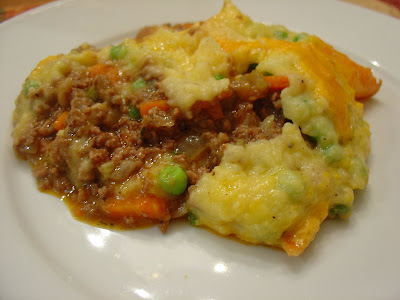 Taste of Home Cooking: Cheddar-Topped Shepherd's Pie