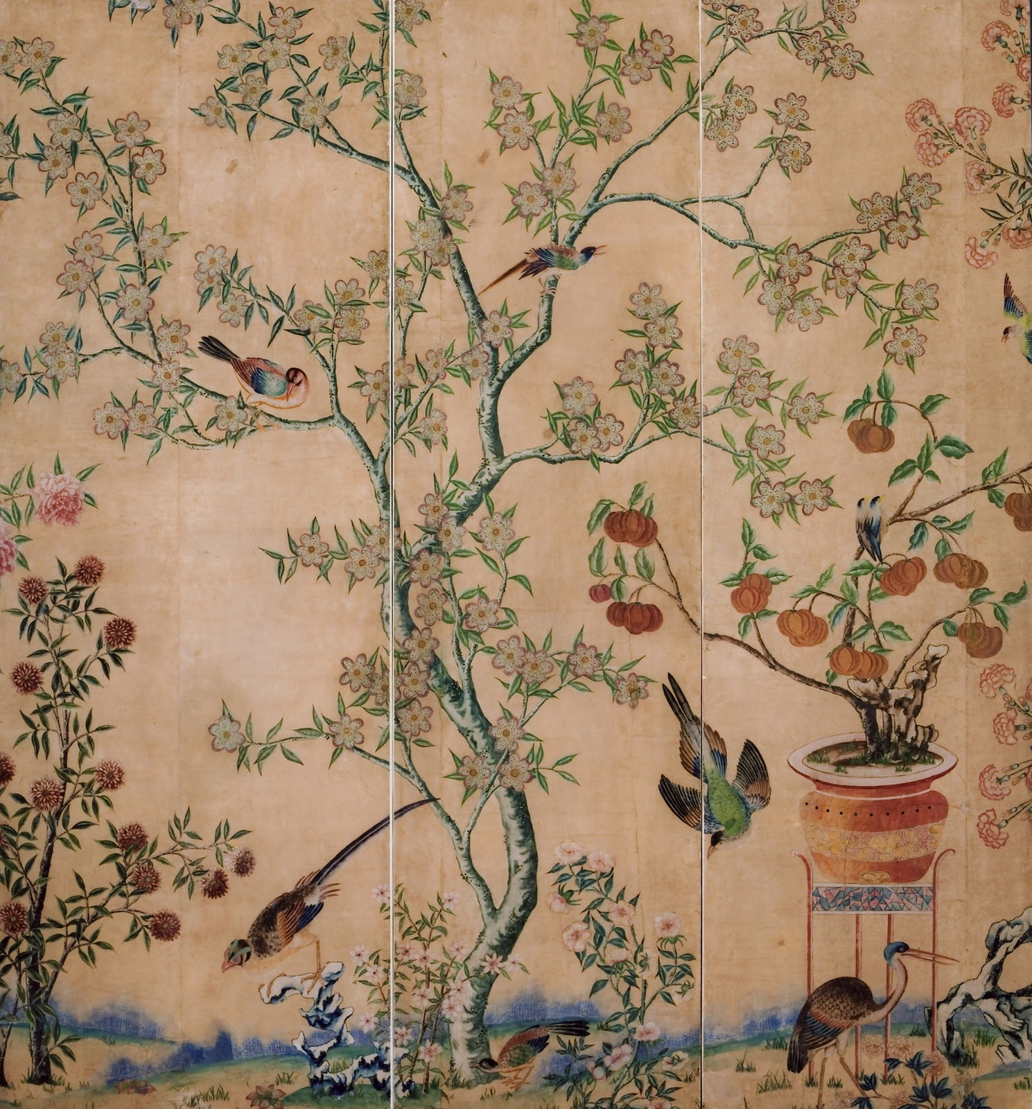 Style court chinoiserie and enterprise for Chinoiserie design