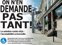 Concept réalisé avec des étudiants de Publicités sociétales et humanitaires, Université de Montréal