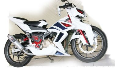Modifikasi Suzuki Satria FU 150' Street Fighter