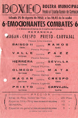 Velada celebrada en Cadiz el 25 de agosto de 1962