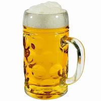 German Beer Stein Glass
