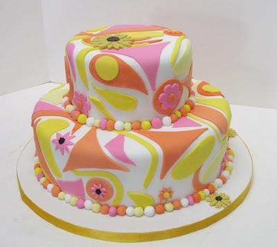 Pasteles y Golosinas (privado) Pink_Yellow_Fondant_Cake