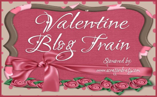 Valentine Blog Train