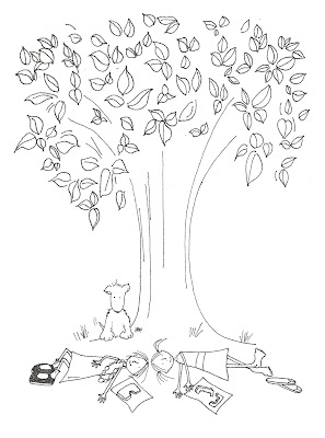 magnolia tree coloring pages - photo#17