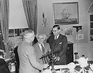 Harry Truman, David Ben-Gurion, Abba Eban, Chanukkah menorah
