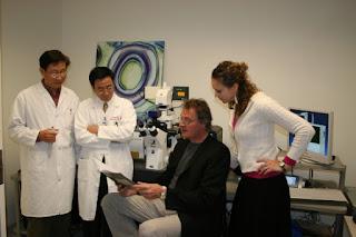 Researchers Sarah Cross, Yu-Sheng Jin, Jian Yu Rao and James Gimzewski