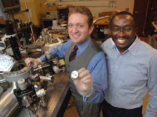 MIT research scientist Luis Velasquez-Garcia, left, and Akintunde Ibitayo Akinwande