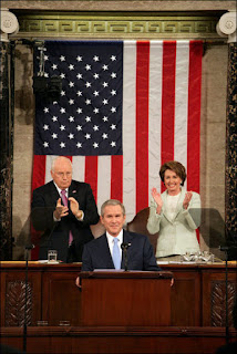 President George W. Bush delivering the State of the Union address